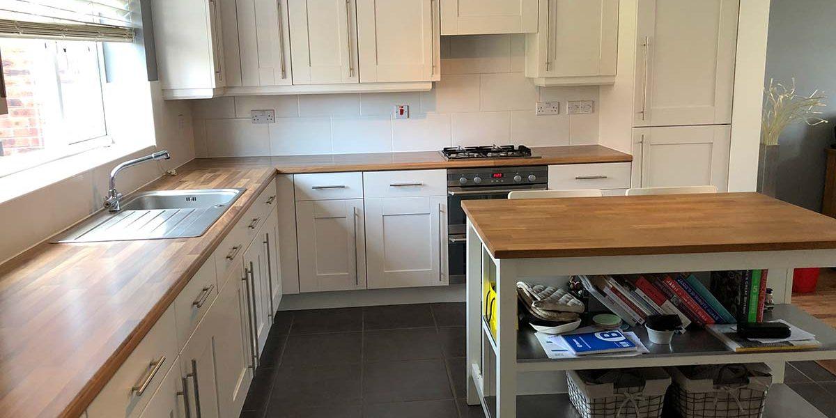 after image clean modern kitchen respray