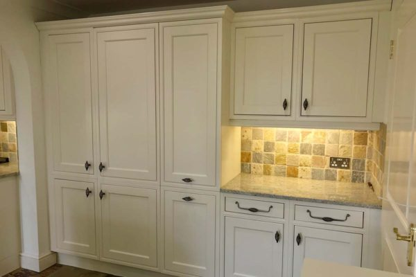 large white kitchen cupboards