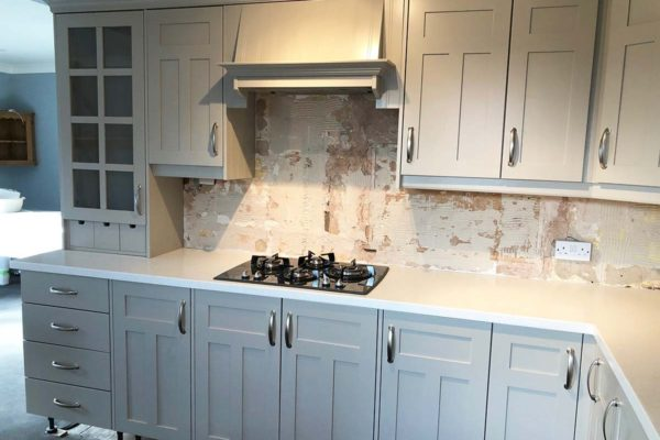 light grey cupboards drawers and oven