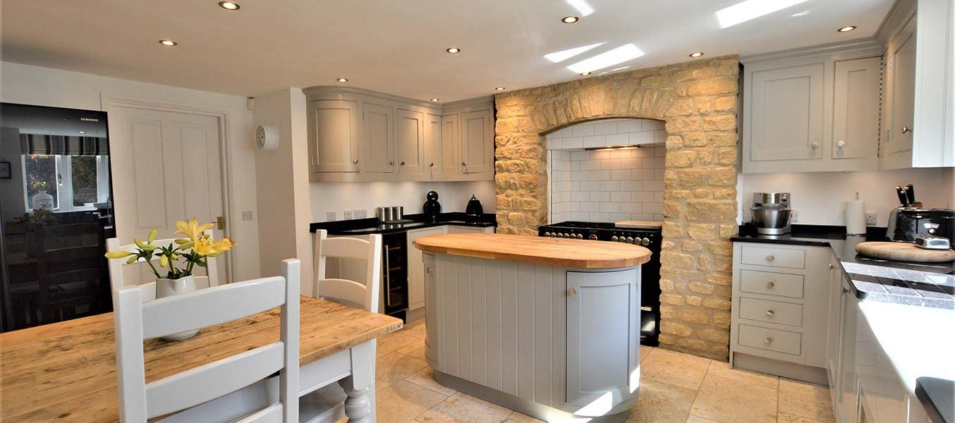 neutral looking kitchen refurbishment